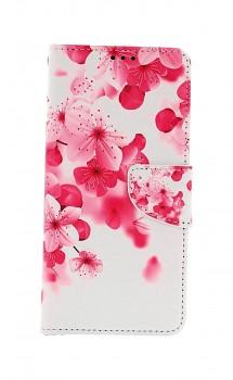 Knížkové pouzdro na Samsung A12 Růžové kvítky