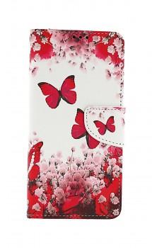 Knížkové pouzdro na Samsung A12 Růžoví motýlci