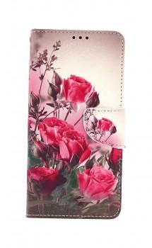 Knížkové pouzdro na Samsung A12 Romantické růže