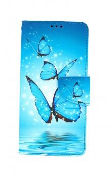 Knížkové pouzdro na Samsung A12 Modří motýlci