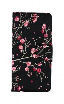 Knížkové pouzdro na Samsung A12 Noční květy