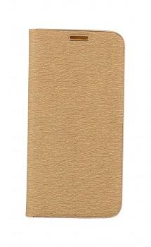 Knížkové pouzdro Luna Book na iPhone SE 2020 zlaté