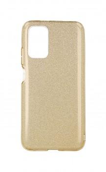 Zadní pevný kryt na Xiaomi Poco M3 glitter zlatý