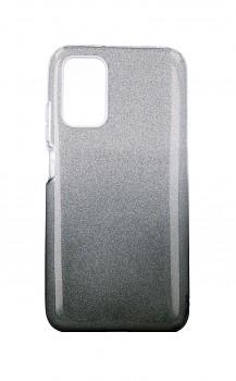 Zadní pevný kryt na Xiaomi Poco M3 glitter stříbrno-černý