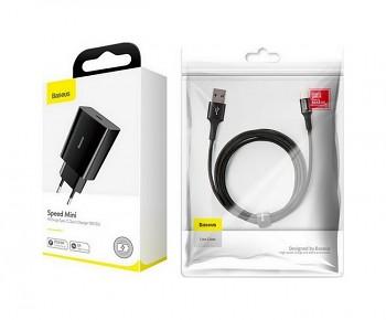 Rychlonabíječka Baseus Speed Mini 18W včetně datového kabelu USB-C černá