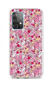Zadní silikonový kryt na Samsung A52 Pink Bunnies