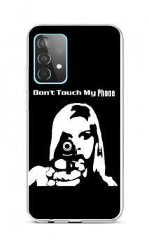 Zadní silikonový kryt na Samsung A52 Don't Touch Gun