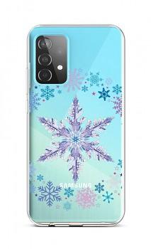 Zadní silikonový kryt na Samsung A52 Snowflake
