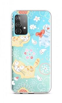 Zadní silikonový kryt na Samsung A52 Happy Cats
