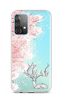 Zadní silikonový kryt na Samsung A52 Blooming Deer