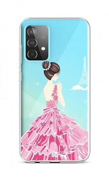 Zadní silikonový kryt na Samsung A52 Pink Princess