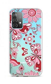 Zadní silikonový kryt na Samsung A52 Pink Butterfly