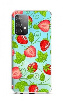 Zadní silikonový kryt na Samsung A52 Strawberries