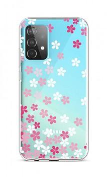 Zadní silikonový kryt na Samsung A52 Pink Blossom