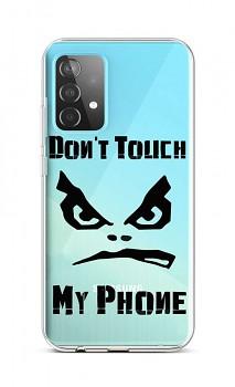 Zadní silikonový kryt na Samsung A52 Don't Touch průhledný