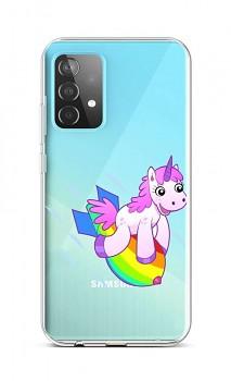Zadní silikonový kryt na Samsung A52 Flying Unicorn