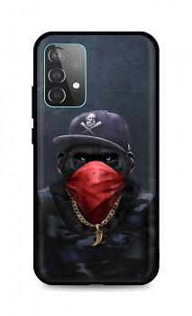 Zadní silikonový kryt DARK na Samsung A52 Monkey Gangster