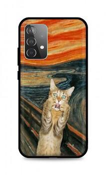 Zadní silikonový kryt DARK na Samsung A52 Scared Cat