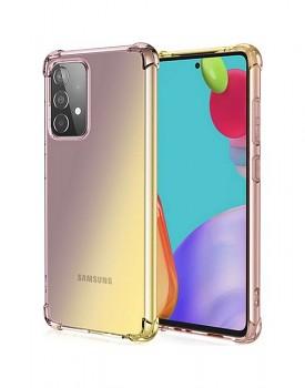 Zadní silikonový kryt na Samsung A52 Shock duhový purpurovo-žlutý