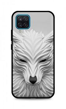 Zadní pevný kryt LUXURY na Samsung A12 Bílý vlk