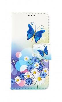 Knížkové pouzdro na Samsung A52 Bílé s motýlkem