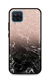 Zadní pevný kryt LUXURY na Samsung A12 Sparkling Marble