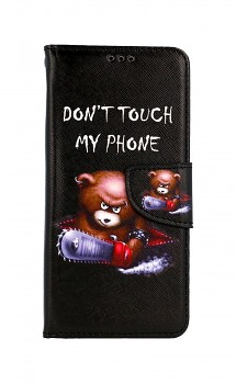 Knížkové pouzdro na Samsung A52 Don´t Touch méďa