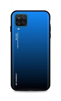 Zadní pevný kryt LUXURY na Samsung A12 duhový modrý