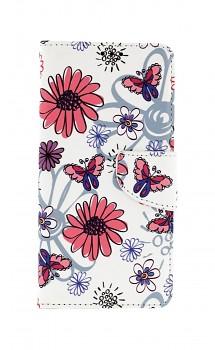 Knížkové pouzdro na Samsung A52 Flowers
