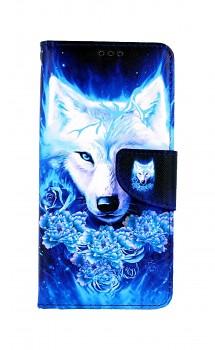 Knížkové pouzdro na Samsung A52 Tyrkysový vlk