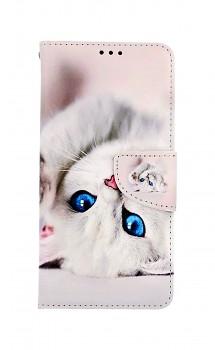 Knížkové pouzdro na Samsung A52 Kočička