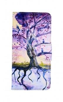 Knížkové pouzdro na Samsung A52 Kresba stromu