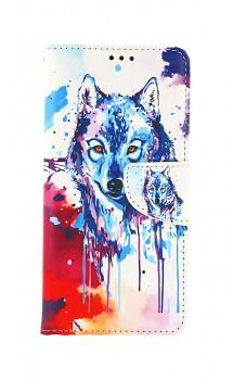 Knížkové pouzdro na Samsung A52 Kresba vlka