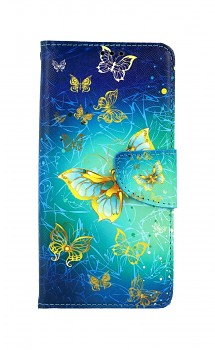 Knížkové pouzdro na Samsung A52 Obloha s motýlky