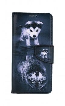 Knížkové pouzdro na Samsung A52 Odraz vlka