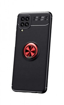 Zadní silikonový kryt na Samsung A12 černý s červeným prstenem