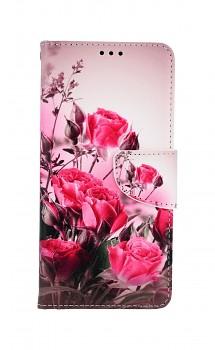 Knížkové pouzdro na Samsung A52 Romantické růže