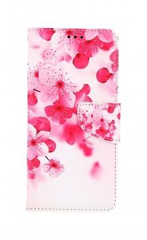 Knížkové pouzdro na Samsung A52 Růžové kvítky