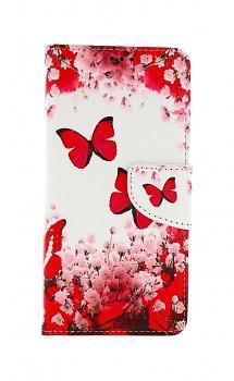 Knížkové pouzdro na Samsung A52 Růžoví motýlci