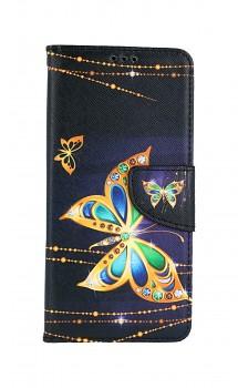 Knížkové pouzdro na Samsung A52 Zlatý motýl