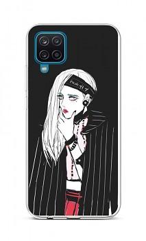 Zadní silikonový kryt na Samsung A12 Dark Girl