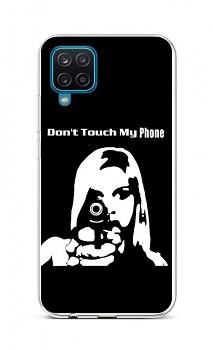 Zadní silikonový kryt na Samsung A12 Don't Touch Gun