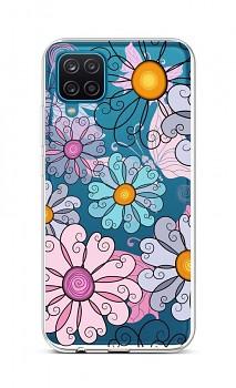 Zadní silikonový kryt na Samsung A12 Colorful Daisy