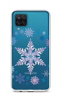 Zadní silikonový kryt na Samsung A12 Snowflake