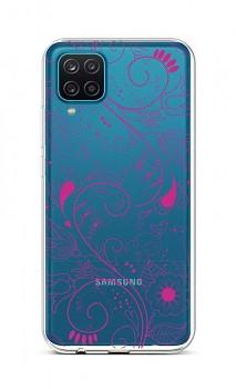 Zadní silikonový kryt na Samsung A12 Pink Ornament
