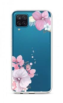 Zadní silikonový kryt na Samsung A12 Violet Blossom