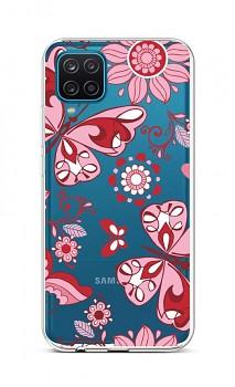 Zadní silikonový kryt na Samsung A12 Pink Butterfly
