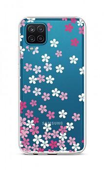 Zadní silikonový kryt na Samsung A12 Pink Blossom