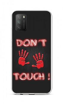 Zadní silikonový kryt na Xiaomi Poco M3 Don't Touch Red