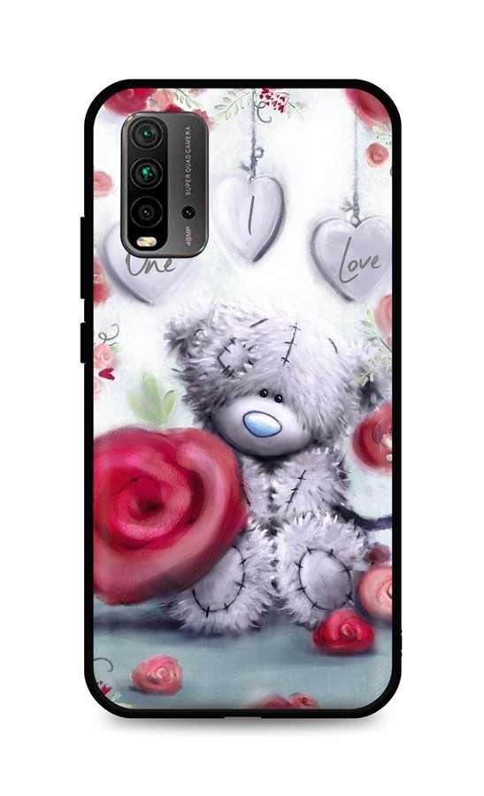 Zadní silikonový kryt DARK na Xiaomi Redmi 9T Teddy Bear